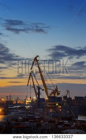Kiev. Industrial Sunset
