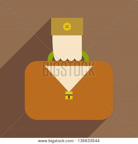 Flat design modern vector illustration icon case in hand
