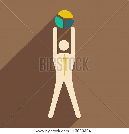 Flat design modern vector illustration icon businessman and graph