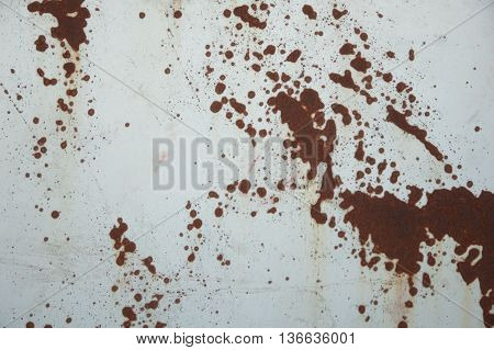 The Rust Texture on Metal background in Industry