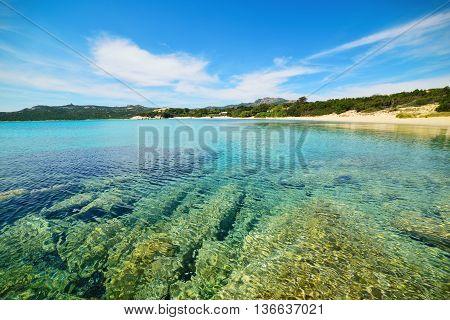 La Celvia beach in Costa Smeralda Italy