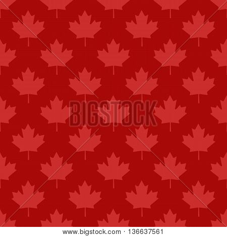 Canadian maple leaf symbol seamless pattern design