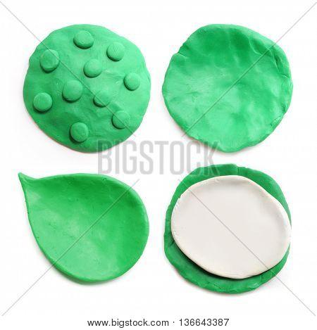 Plasticine green background.