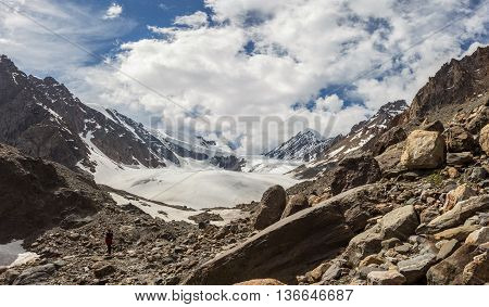 Beautiful view of a mountains landscape in Western Siberia Altai