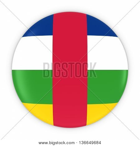 Central African Flag Button - Flag Of The Central African Republic Badge 3D Illustration