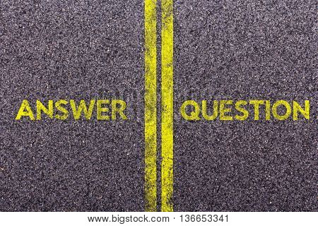 Tarmac With The Words Answer And Question