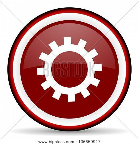 gear round glossy icon, modern design web element