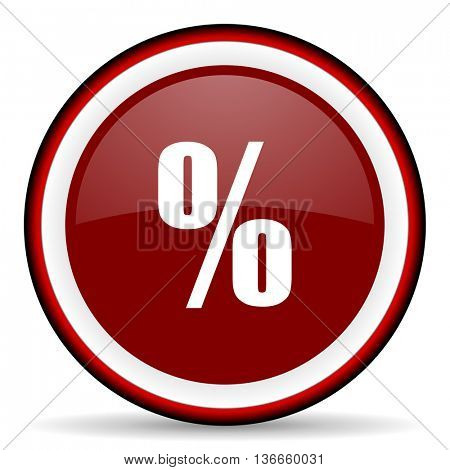 percent round glossy icon, modern design web element