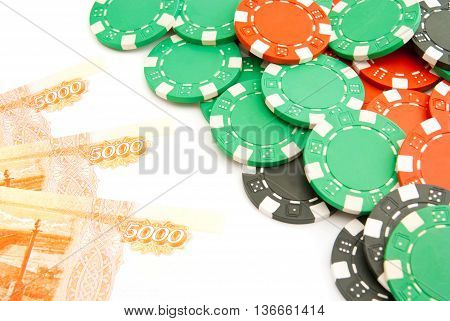 Rubles And Colored Chips