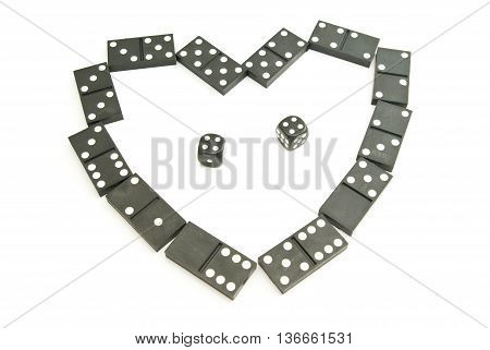 Black Dominoes Chips And Dices