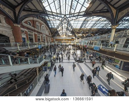 Liverpool Street Station In London