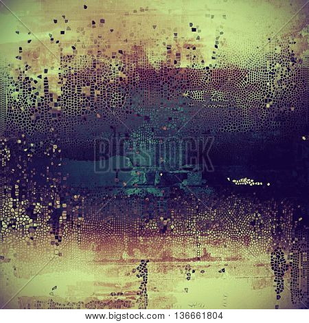Antique frame with grunge background. With different color patterns: yellow (beige); brown; blue; green; purple (violet); cyan