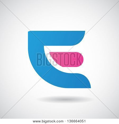 Design Concept of a Colorful Stock Logo Icon of Letter E, Vector Illustration