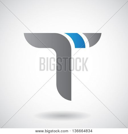 Design Concept of a Colorful Stock Logo Icon of Letter T, Vector Illustration