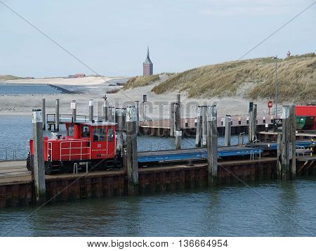 the german Island of wangerooge in the North sea