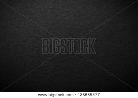 Natural Black Slate Background With Copy Space