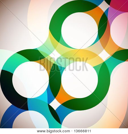 rainbow circles background