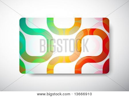 """gift card - size 3 3/8"""" x 2 1/8""""  (86 x 54 mm)"""