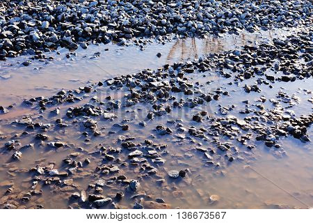 Pebbles In Water