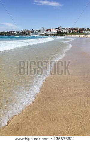 A beautiful day at Bondi Beach - Sydney Australia. Bondi is one of the worlds best and most famous beaches and is a highlight for many visitors to Sydney