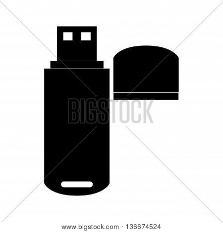 simple flat design usb flash drive icon vector illustration