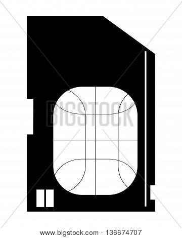 simple flat design sim card icon vector illustration