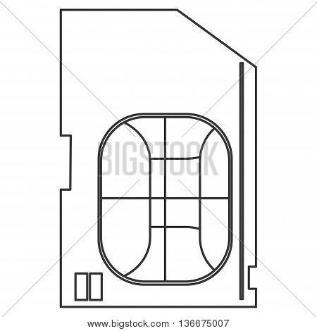 simple line design sim card icon vector illustration