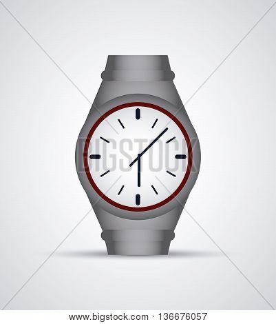 Time concept represented by colorfull watch icon. Isolated and flat illustration