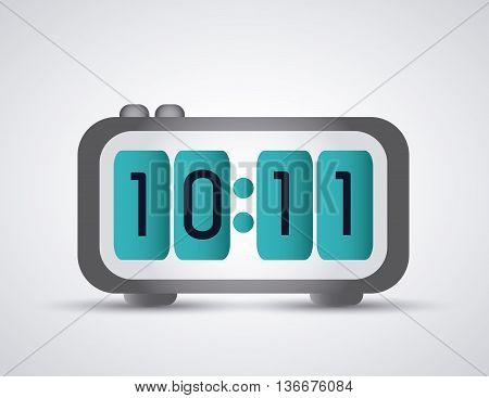 Time concept represented by colorfull digital Clock icon. Isolated and flat illustration