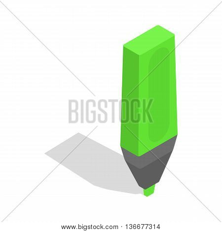 Marker icon in isometric 3d style isolated on white background. School supplies symbol