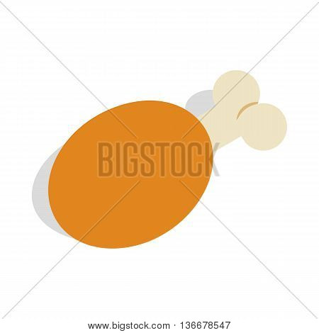 Ham icon in isometric 3d style isolated on white background. Food symbol