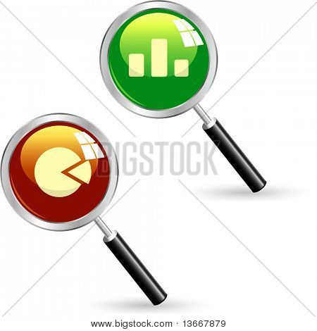 Business statistics vector. Diagram icons.