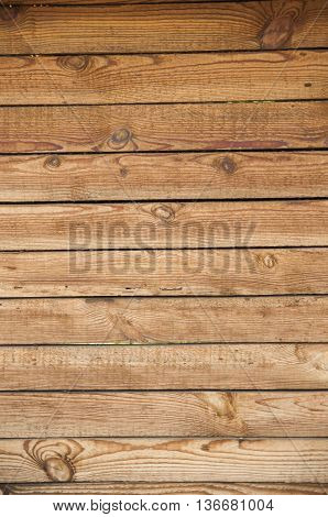 of pine wood board horizontally texture background.