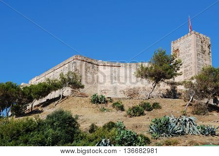 View of Sohail castle Fuengirola Malaga Province Andalucia Spain Western Europe.