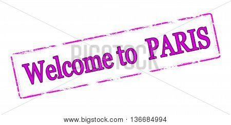 Rubber stamp with text welcome to Paris inside vector illustration
