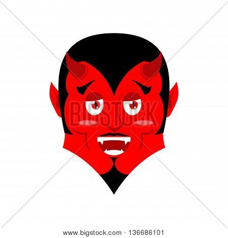 Red Devil. Funny Demon. Satan With Horns. Crafty Mephistopheles. Diablo Prince Of Darkness And Under