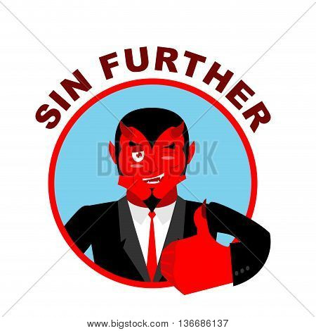 Devil Shows Well. Sign All Right. Sin Further. Thumbs Up. Hand Showing Ok. Gesture Of  Hand. Funny D