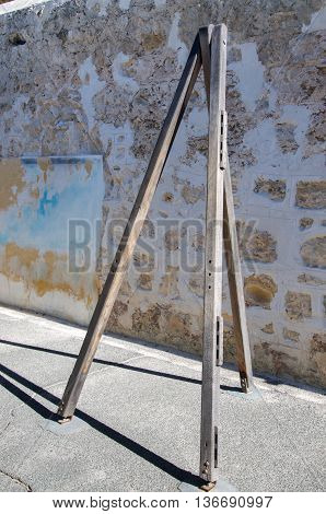 FREMANTLE,WA,AUSTRALIA-JUNE 1,2016:  Lashing post at the Fremantle Prison in Fremantle, Western Australia.