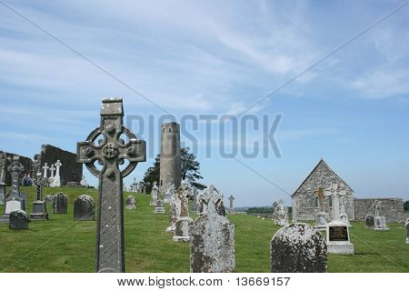 Clonmacnoise in Ireland