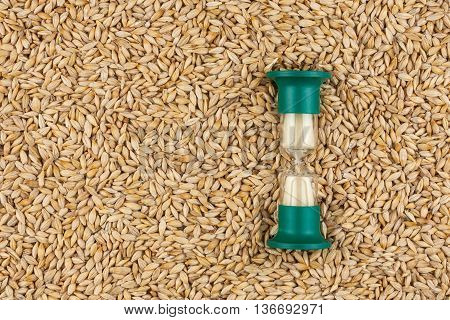 Hourglass and the grain of barley a conceptual time and food