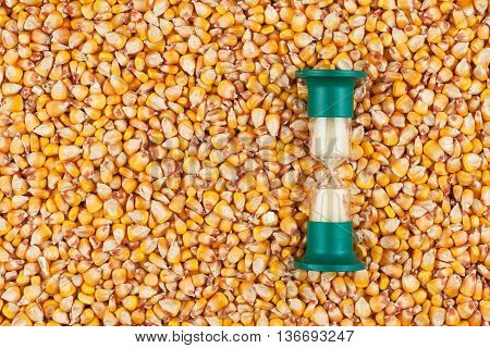 Hourglass and the grain of corn a conceptual time and food