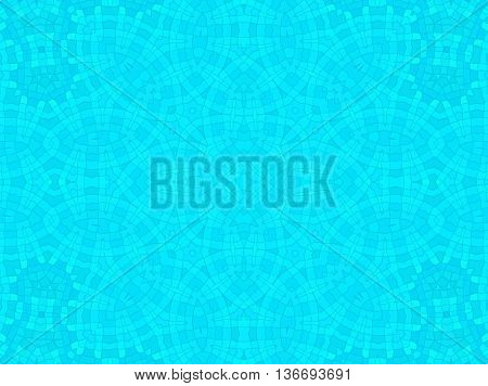 Bright blue cell concentric pattern abstract background