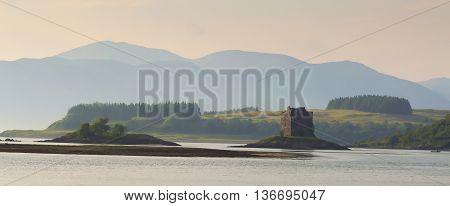 Castle Stalker, located north of Oban, Scotland