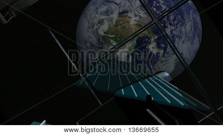 Satellite view  of earth from space