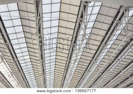 Modert roof of contemporary hall air port