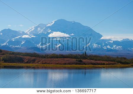 Wonder Lake Denali National Park Alaska Usa