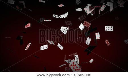 Poker tarjetas cae
