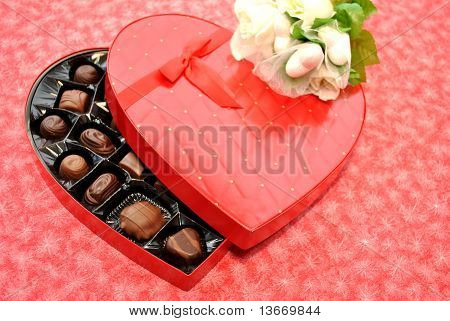 Heart Candy with White Roses