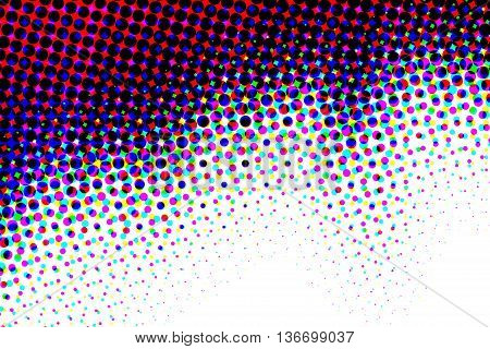 Multiple color half tone pattern abstract background