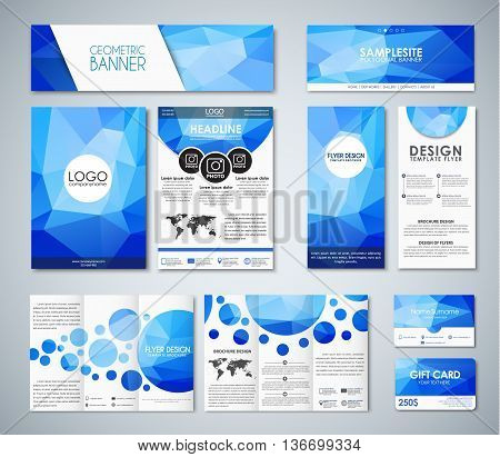 Mockup Polygonal Corporate Identity